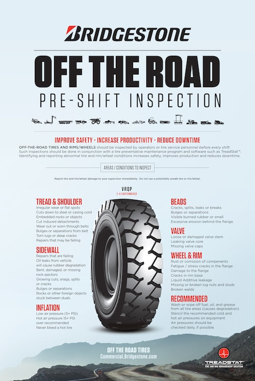 FREE OTR TIRE INSPECTION POSTER image